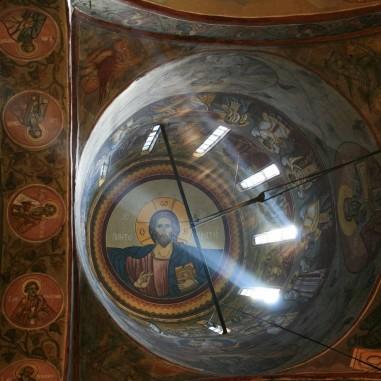 Mănăstirea Cornet - detaliu cupola centrală