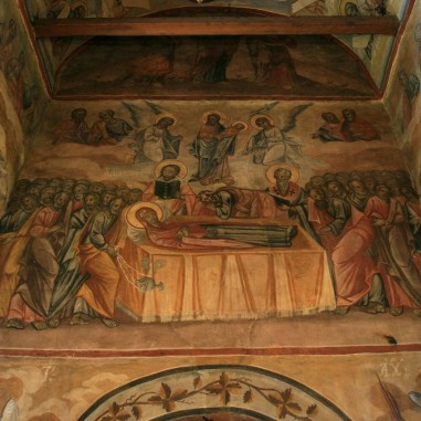 Mănăstirea Cornet - detaliu frescă